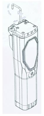 La linterna portátil dispone de un gancho para su mejor colocación
